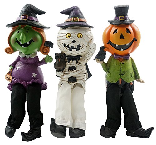 Halloween Friends in Costumes Shelf Sitters - Set of 3 (Owl Dressed Up For Halloween)