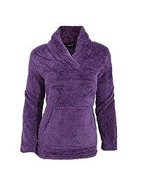 Womens/Ladies Long Sleeved Soft Fleece Pyjama Snuggle Top With Pocket