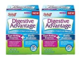 Digestive Advantage Fast Acting Enzymes + Daily Probiotic, 40 Capsules (Pack of 2)