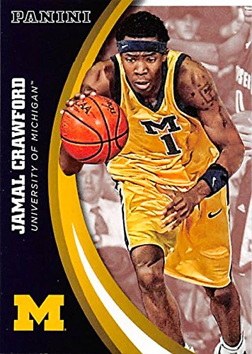 Jamal Crawford basketball card (Univerity of Michigan Wolverines) 2015 Panini Team Collection #28 by Autograph...