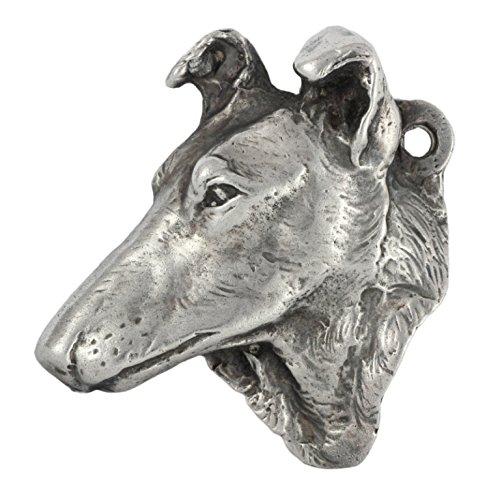 Silber beschichtet Halskette Silber gepunzt 925 Collie Smooth Haired Art Dog Hund Limitierte Edition