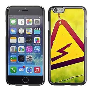SKCASE Center / Funda Carcasa - Peligro de descarga sesión - Apple Iphone 6 Plus 5.5