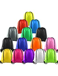 20fe36bc4059 15Pcs Multicolor Drawstring Backpack Bags Sports Cinch Sack String Backpack  Storage Bags for Gym Traveling (