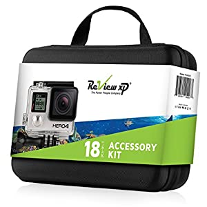 Review XP - Complete water Equipment Bundle for GoPro cameras - Includes Medium Shockproof Carrying case + Floating Bobber + Removable Floaty Sponge + Standard Backdoor + Fog Free Inserts & more.