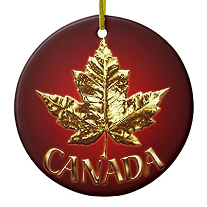 Christmas Ornaments Canada Ornament Souvenirs & Canada Gifts Circle Round  Crafts Gift Xmas Decorations Tree Ornament - Christmas Ornaments Canada Ornament Souvenirs & Canada Gifts Circle