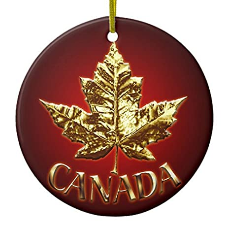 christmas tree decorations canada ornament souvenirs canada gifts circle round christmas ornament crafts xmas gift - Christmas Decorations Canada