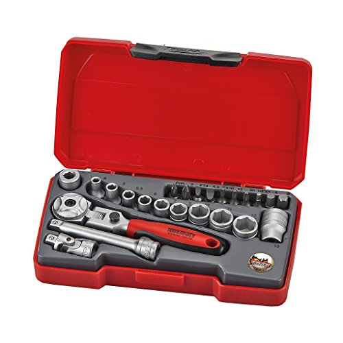 Teng Tools - 24 Piece 1/4 inch Drive Socket Set - T1424S by Teng Tools