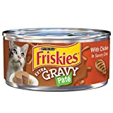 #4: Purina Friskies Extra Gravy Pate With Chicken in Savory Gravy Adult Wet Cat Food - Twenty-Four (24) 5.5 oz. Cans