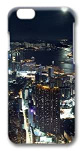 Hong Kong Night panorama Polycarbonate Hard Case Cover for iphone 6 plus 5.5 inch 3D