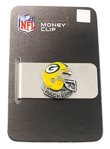 Green Bay Packers Enameled Pewter Money Clip/Card Holder - NFL Football Fan Shop Sports Team Merchandise