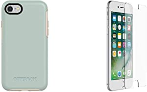 OtterBox Symmetry Series Case for iPhone SE (2nd gen - 2020) and iPhone 8/7 (NOT Plus) & Alpha Glass Series Screen Protector for iPhone 6/6s/7/8 (NOT Plus) - Retail Packaging - Clear