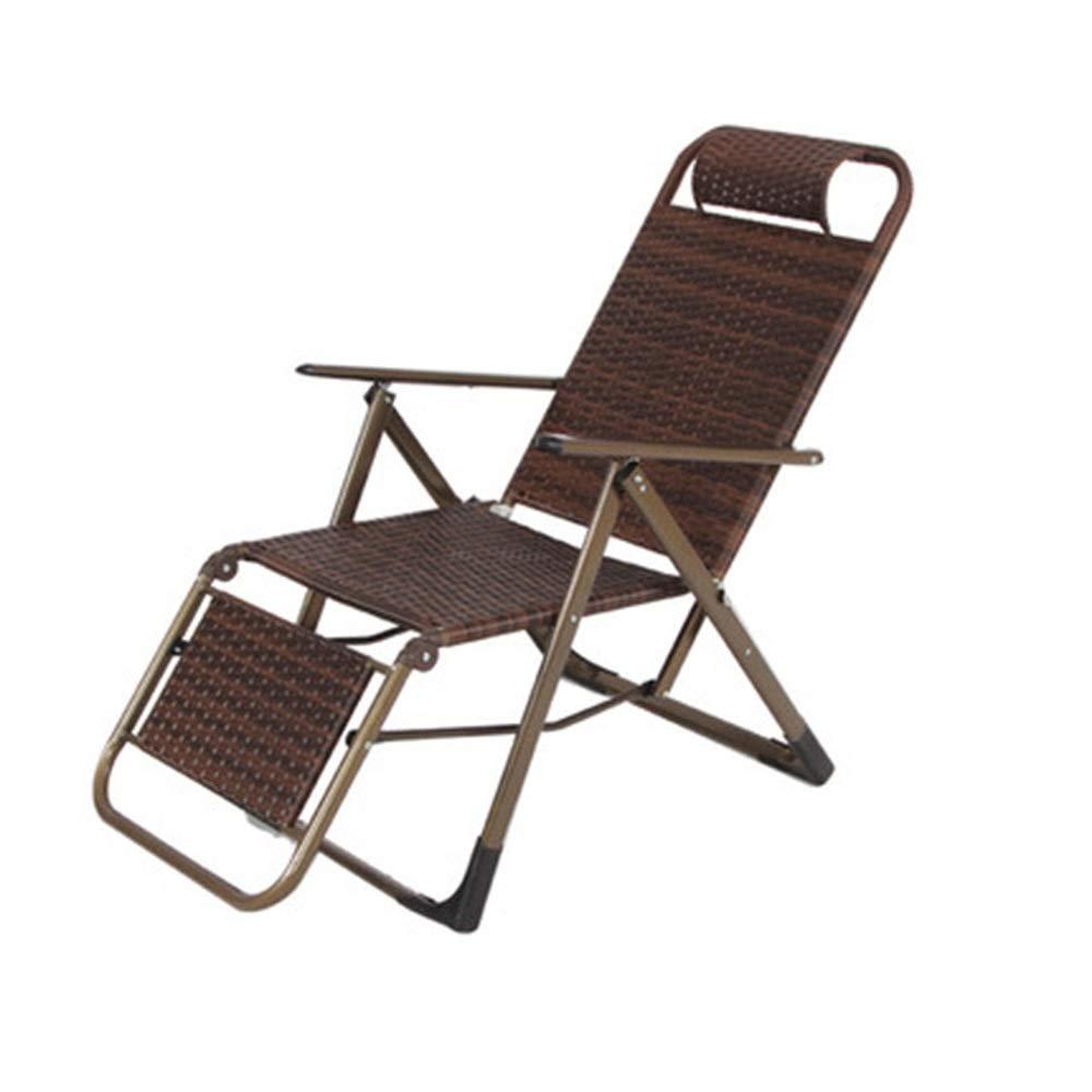 JDGK - ラウンジチェア B07T3J7FWD お買い得 信頼 8974 リクライニングチェア折りたたみ椅子籐椅子オフィスランチ休憩椅子ビーチチェアレジャーチェア屋外折りたたみ椅子