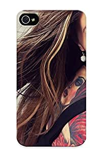 [qGeZw0Krdej]premium Phone Case For Iphone 4/4s/ Brunee Face Taoo Eyes Women Females Girls Sexy Babes Tpu Case Cover(best Gift Choice)