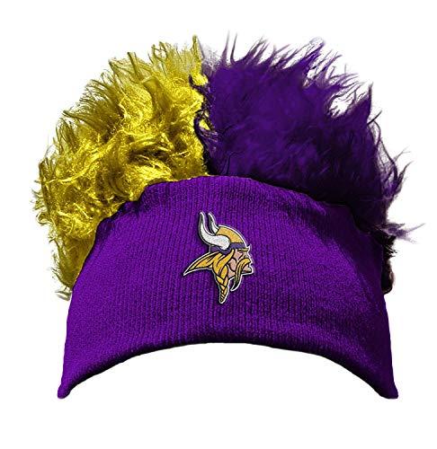 The Northwest Company Officially Licensed NFL Minnesota Vikings Flair Hair Beanie Cap - Licensed Nfl Beanie