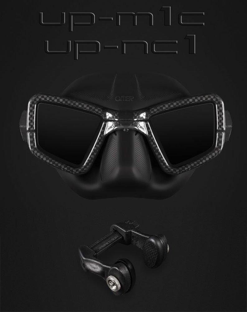 UMBERTO PELIZZARI UP-M1C Carbon Mask with Nose Clip by UMBERTO PELIZZARI (Image #1)