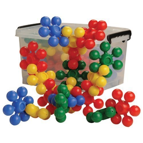 Constructive Playthings 60 pc. 3 1/2'' diam. Star Builders in Storage Tub for Ages 3 Years and Up