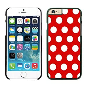 FAGUO Crazy Personalized Polka Dot Red and White iPhone 6 Case Black