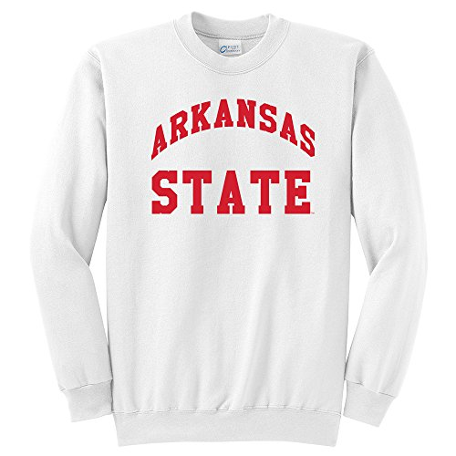 (NCAA Arkansas State Red Wolves Arch Classic Crewneck Sweatshirt, Large, White)