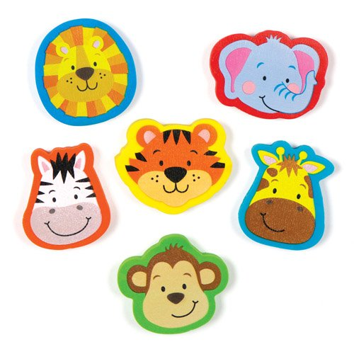 Jungle Chums Erasers Stationery Set for Children to Play wit