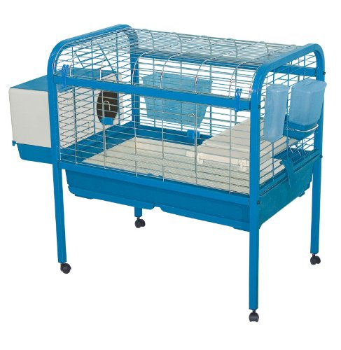 Marchioro Luna 82 Cage for Small Animals with Wheels, 32.25 inches, Blue by Marchioro