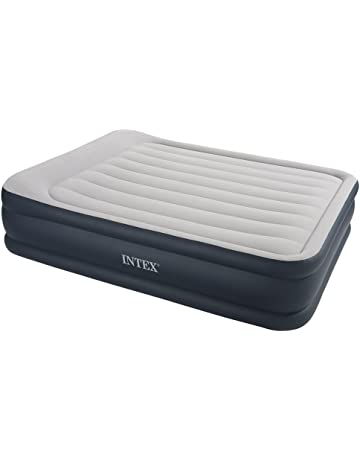 Intex Pillow Rest Raised - Cama hinchable con bomba eléctrica, 152 x 203 x 43