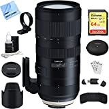 Tamron SP 70-200mm F/2.8 Di VC USD G2 Lens (A025) for Nikon Full-Frame (AFA025N-700) with TAP-In Console Lens Accessory, 64GB Memory & Memory Card Reader, Card Wallet, Cleaning Kit and More
