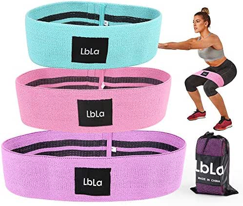 LBLA Resistance Bands Exercise Bands for Legs and Butt Hip Bands Booty Bands Workout Bands Sport Fitness Bands Anti Slip Loop Bands for Women