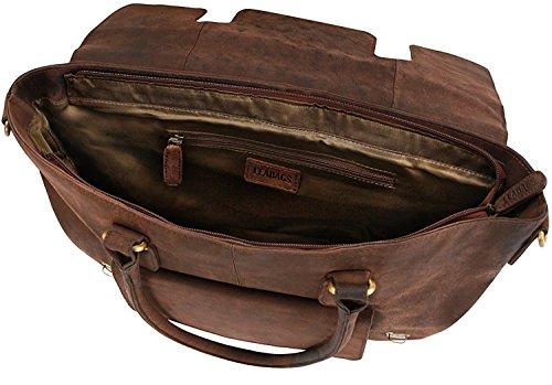 di vera in borsa vintage Moscata pelle LEABAGS bufalo donna Jersey Noce CrazyVinkat da Ya8Bn5W4x