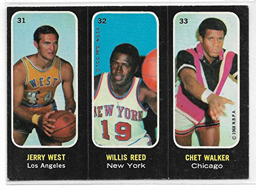 1971-72 Topps ABA Trios Basketball Jerry West-Willis Reed-Chet Walker Card # 31-32-33 ()