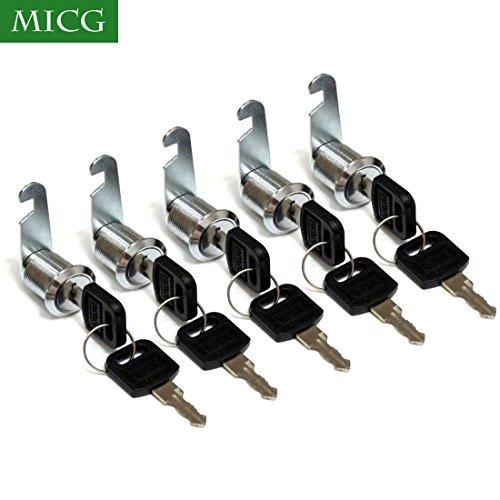 Bona 5pcs/lot cajón de Seguridad Cam Cerraduras de cilindro puerta buzón Gabinete Caja de herramientas Cerradura 2llaves...