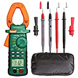2000 Count Digtial Clamp Meter, Auto-Ranging Multimeters AC/DC Volt AC/DC Current Ohm Diode Resistance Test Voltage Tester
