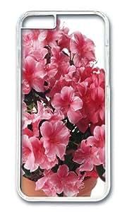 iPhone 6 Plus Case Color Works Azalea Pink Flowers Transparent PC Hard Case For Apple iPhone 6 Plus 5.5 Inch Phone Case