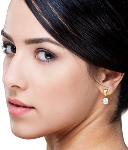 Miore - MA9016E - Boucles d'Oreilles Femme - Or jaune 375/1000 (9 carats) 0.74 gr - Perle d'eau douce
