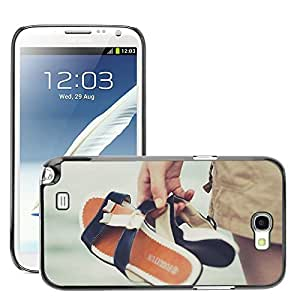 Super Stella Slim PC Hard Case Cover Skin Armor Shell Protection // M00421455 Sea Slippers Water Beach Summer // Samsung Galaxy Note 2 II N7100