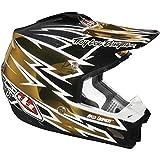 Troy Lee Designs Zap SE 3 MotoX/Off-Road/Dirt Bike Motorcycle Helmet - Gold Chrome/Large