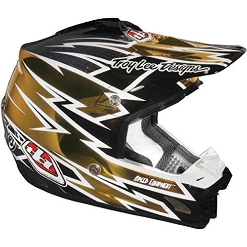 Troy Lee Designs Zap SE 3 MotoX/Off-Road/Dirt Bike Motorcycle Helmet - Gold Chrome / 2X-Large (Troy Lee Dirt Bike Helmet)