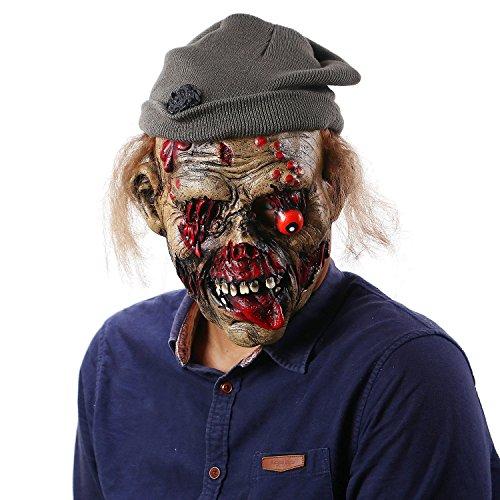 Jiu Ya Da Dui Halloween Horror Hats Zombie Mask Scary Vampire Cosplay]()