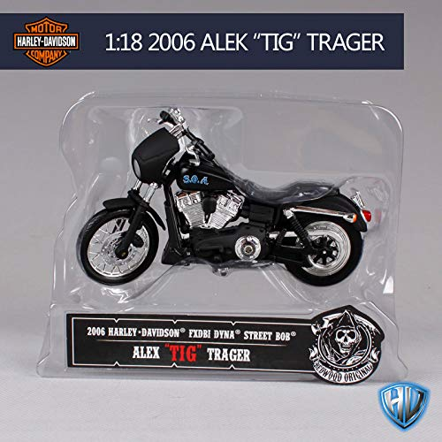 - ZIETNAL Diecasts & Toy Vehicles - 1:18 Harley Sons of Anarchy 1946 FL Knucklehead 2003 DYNA Super Glide Sport JACHSON Jax Teller Motorcycle Bike Model 1 PCs