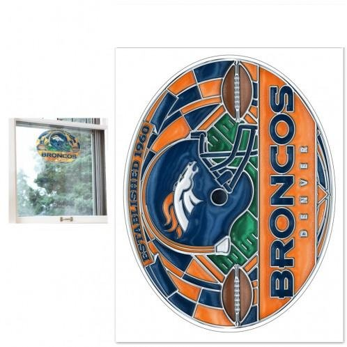 NFL Denver Broncos 20050013 Stained Glass Multi-Use (Denver Broncos Nfl Stained Glass)