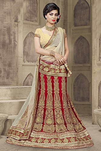Da Facioun Indian Women Designer Wedding RED Lehenga Choli R-16081