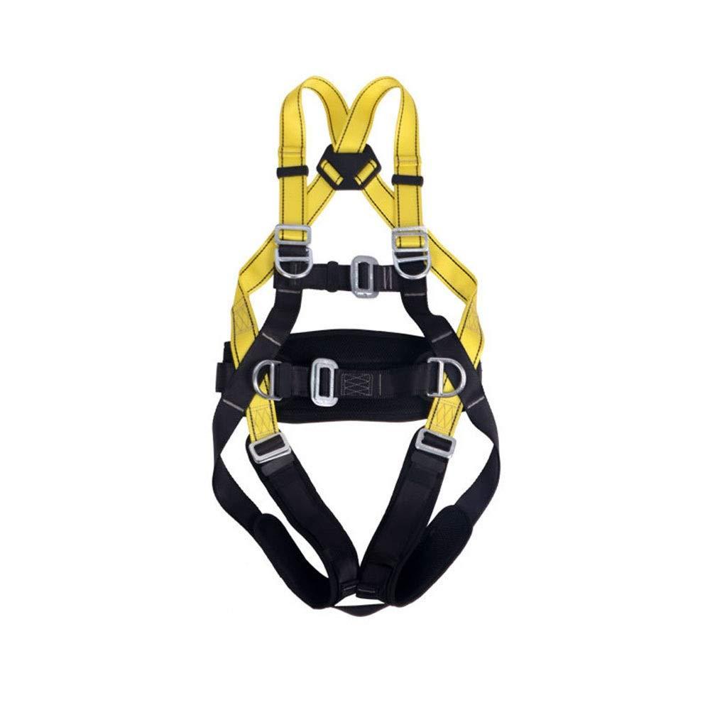 Nekovan 全身ハーネス登山電気技師クライミング用品屋外空中作業救助 (色 : 黒)  黒 B07R2MQF8S