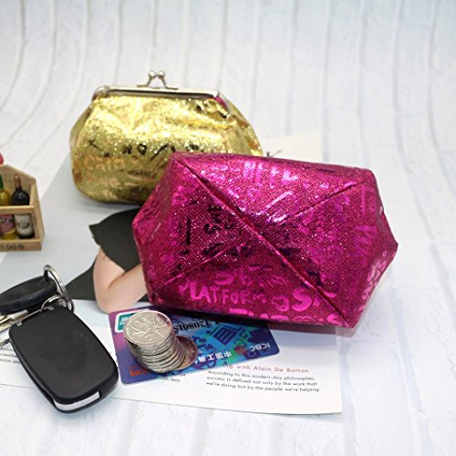 Coin Clearance Women Hot Pink Reflector Bag Deals Laser TOOPOOT Wallet Purse Lady Coin Bag wBTr8x5qw