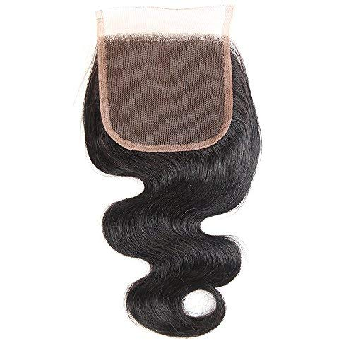 14 inch Unprocessed Brazilian Human Virgin Hair Body Wave Lace Closure Free Part Pre Plucked Baby Hair Natural Hair Line
