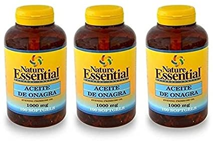 Aceite De Onagra 100 perlas de 1000 mg de Nature Essential . (Pack 3u.