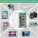 Kingsdun Precision Screwdriver Set, 60 in 1 Magnetic Driver Kit with 56 Mini Multi Bit Sets,Professional Repair Tool Kit for Iphone /Ipad /Macbook /PC/ Laptop /Xbox /Watches & Eyeglasses