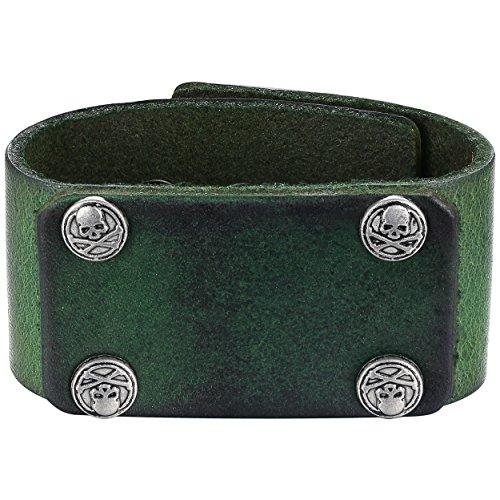 Vintage Button Bracelet Green - 8