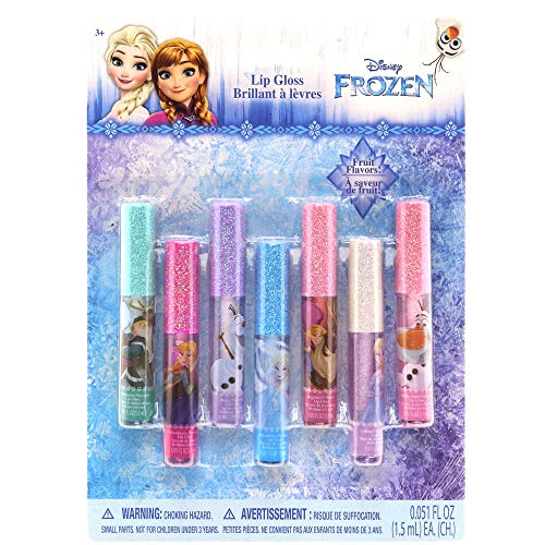 Townley Girl Super Sparkly 7 Pack Party Favor Lip Gloss, 7 CT (Frozen) ()