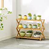 JHZWHJ Wooden Flower Rack Indoor Plant Stand Wooden Plant Flower Display Stand Wood Pot Shelf Storage Rack Outdoor (Size : A2)