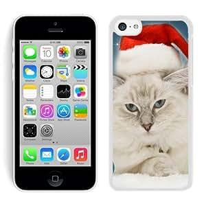 Popular Sell Design Iphone 5C TPU Case Christmas Cat White iPhone 5C Case 19