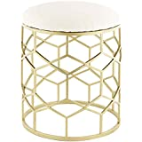 Taymor Industries Reign Stool in Gold Finish
